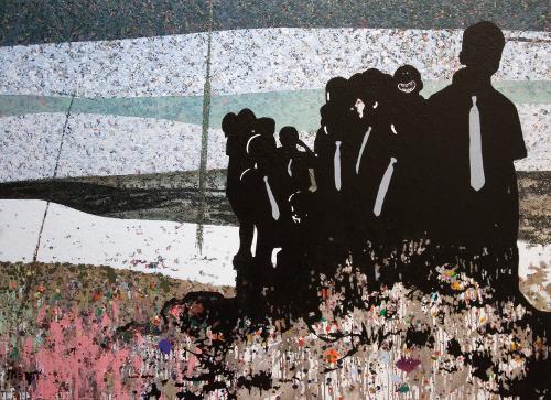 """Paweł Garwol, """"Święty Szczyt"""" , 130 x 180 cm, 2011"""