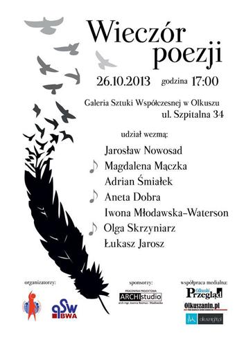 wieczór poezji 2013