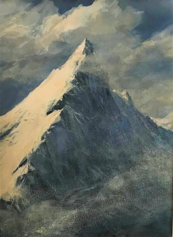 Anita Baenish- Juda, Droga na szczyt, akryl, 40 x 30
