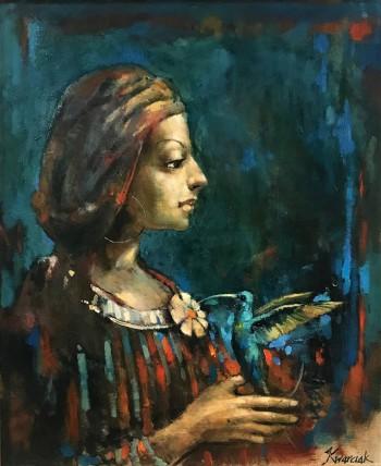 Michał Kwarciak, Klejnoty, olej, 60 x 50