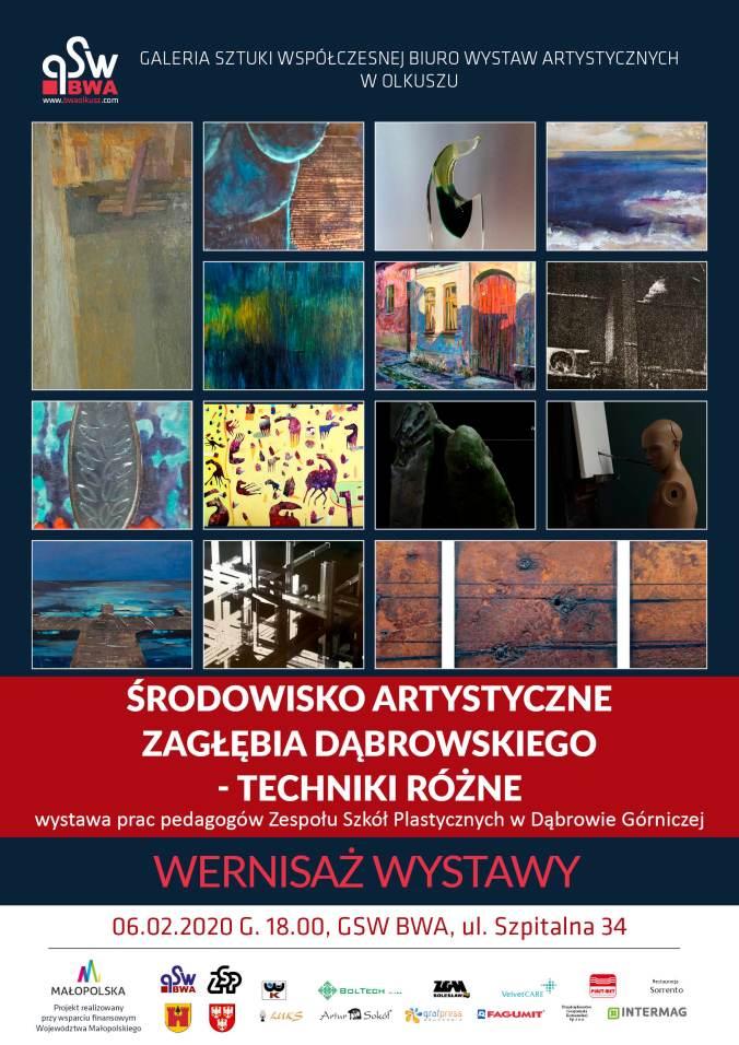 plakat Środowisko artystyczne Zagłębia Dąbrowskiego