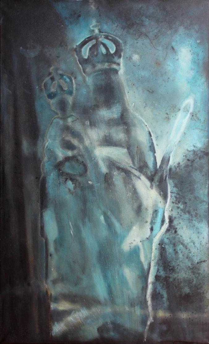 Ewa Bielecka ( Wróbel), Matka wieczności, wym,60x97cm, olej na płótnie